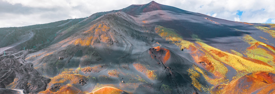 Survol de l'Etna en hélicoptère